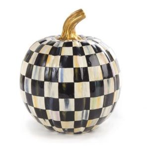Mackenzie Childs Small Courtly Check Pumpkin